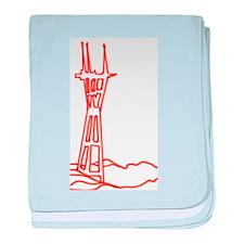 sutro tower baby blanket