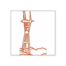 "sutro tower Square Sticker 3"" x 3"""