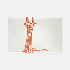 sutro tower Rectangle Magnet