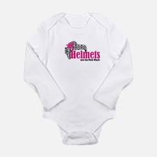 Helmets new bk Long Sleeve Infant Bodysuit