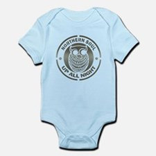 Northern Soul Up All Night silver Infant Bodysuit