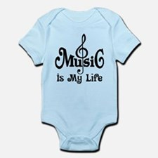 Music Is My Life Quote Infant Bodysuit