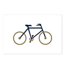 Blue and Gold Cycling Postcards (Package of 8)