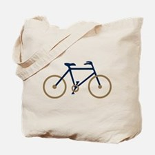 Blue and Gold Cycling Tote Bag