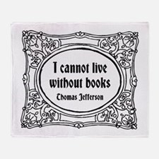 Without Books Throw Blanket