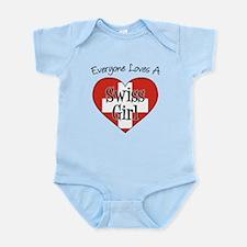 Everyone Loves Swiss Girl Infant Bodysuit