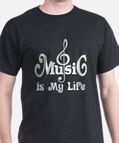 Music Is My Life Quote T-Shirt