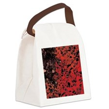 Red Granite Canvas Lunch Bag