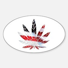 American Weed Sticker (Oval)