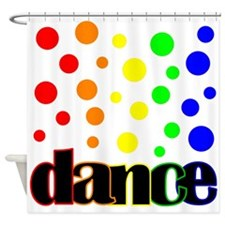 Polka Dot Dance Shower Curtain