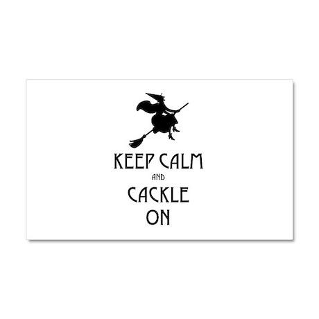 Keep Calm Cackle On Car Magnet 20 x 12