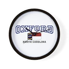 Oxford, North Carolina NC USA Wall Clock