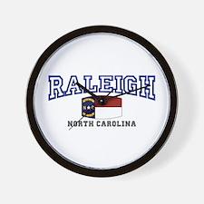 Raleigh, North Carolina, NC USA Wall Clock