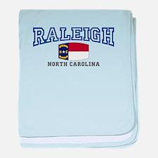 Raleigh, North Carolina, NC USA baby blanket