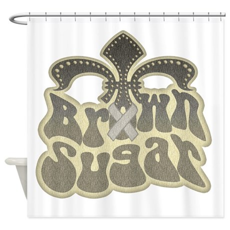 Brown sugar fleur de lis shower curtain by pcab - Fleur de lis shower curtains ...
