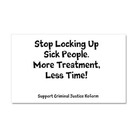 Stop Locking Up Sick People Car Magnet 20 x 12