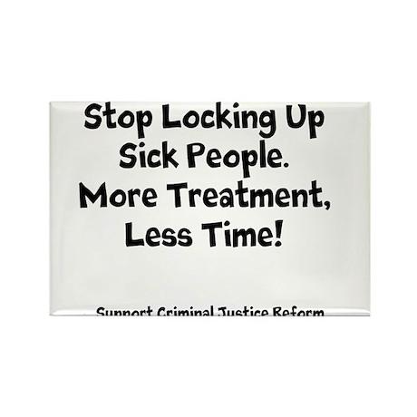 Stop Locking Up Sick People Rectangle Magnet