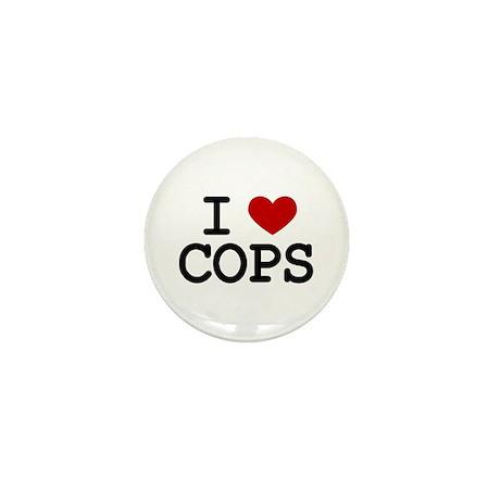 I Love Cops Mini Button