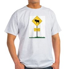Moose Crossing Ash Grey T-Shirt