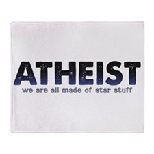 Atheist Star Stuff Throw Blanket