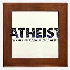 Atheist Star Stuff Framed Tile