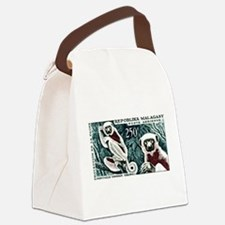 1961 Madagascar Lemur White Sifaka Stamp Canvas Lu