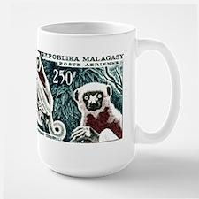 1961 Madagascar Lemur White Sifaka Stamp Mug