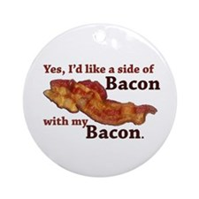 side of bacon Ornament (Round)