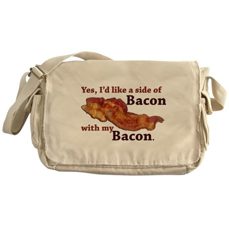 side of bacon Messenger Bag