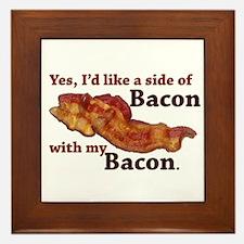 side of bacon Framed Tile