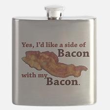 side of bacon Flask