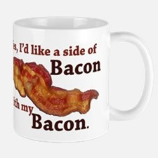 side of bacon Small Mugs