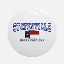 Statesville, North Carolina NC USA Ornament (Round