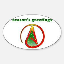 Reasons Greetings Sticker (Oval)