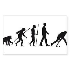 evolution fieldhockey player Decal