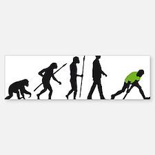 evolution fieldhockey player Bumper Bumper Sticker