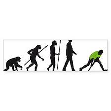 evolution fieldhockey player Bumper Sticker