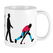 evolution fieldhockey player Mug