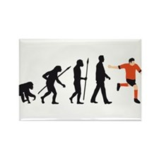 evolution soccer player Rectangle Magnet