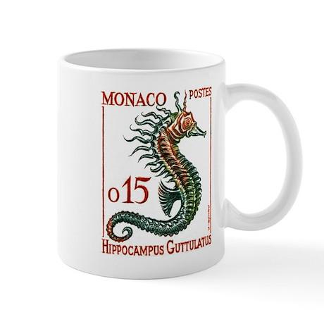 1960 Monaco Seahorse Postage Stamp Mug