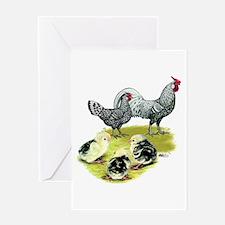Hamburg Fowl Family Greeting Card