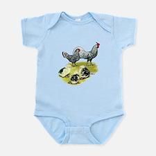 Hamburg Fowl Family Infant Bodysuit
