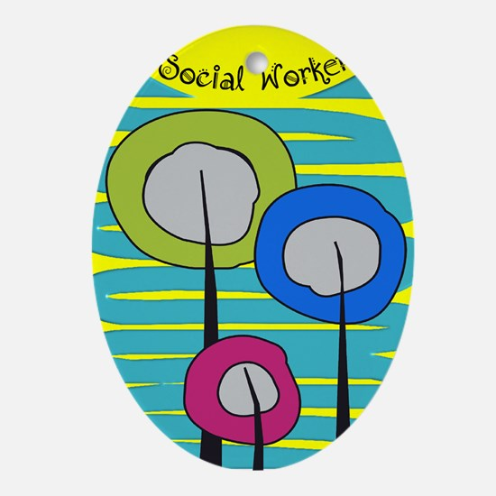 cp social worker 3.PNG Ornament (Oval)