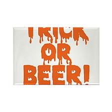 Trick or Beer! Rectangle Magnet