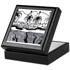 Billabong in B&W Keepsake Box
