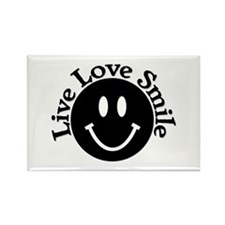 Live Love Smile Rectangle Magnet
