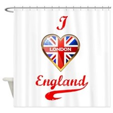 Union Jack Heart Shower Curtain