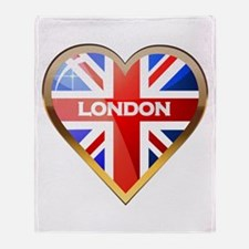 Union Jack Heart Throw Blanket