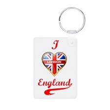 Union Jack Heart Keychains