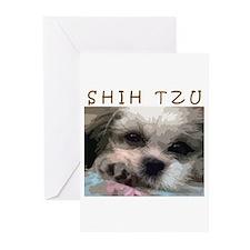 Shih Tzu Pop Art Matilda Greeting Cards (Package o